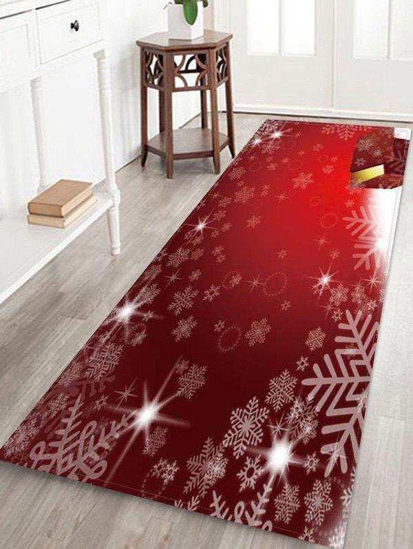 Store Christmas Snowflake Pattern Anti-skid Water Absorption Area Rug