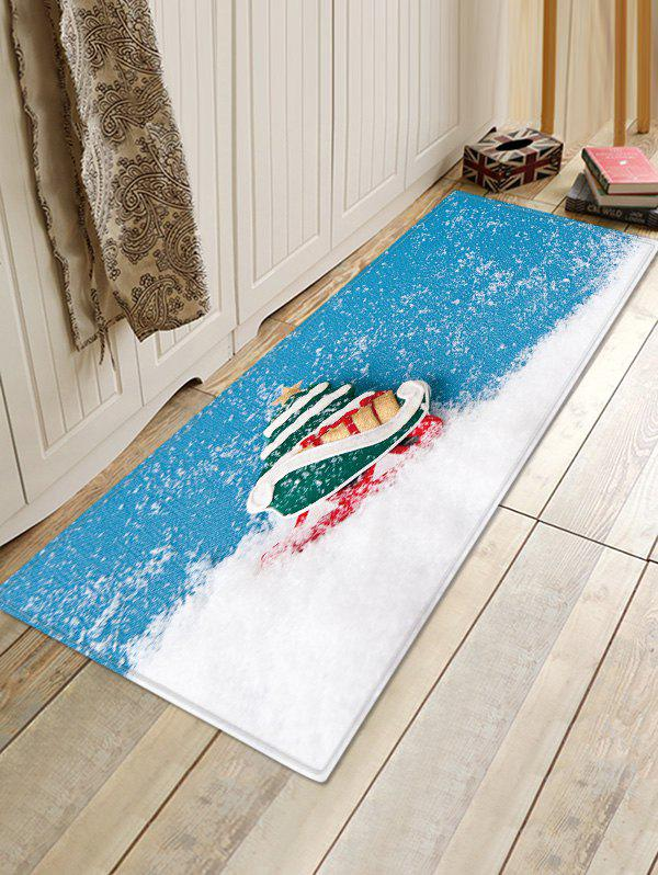 Outfits Christmas Snow Pattern Water Absorption Area Rug