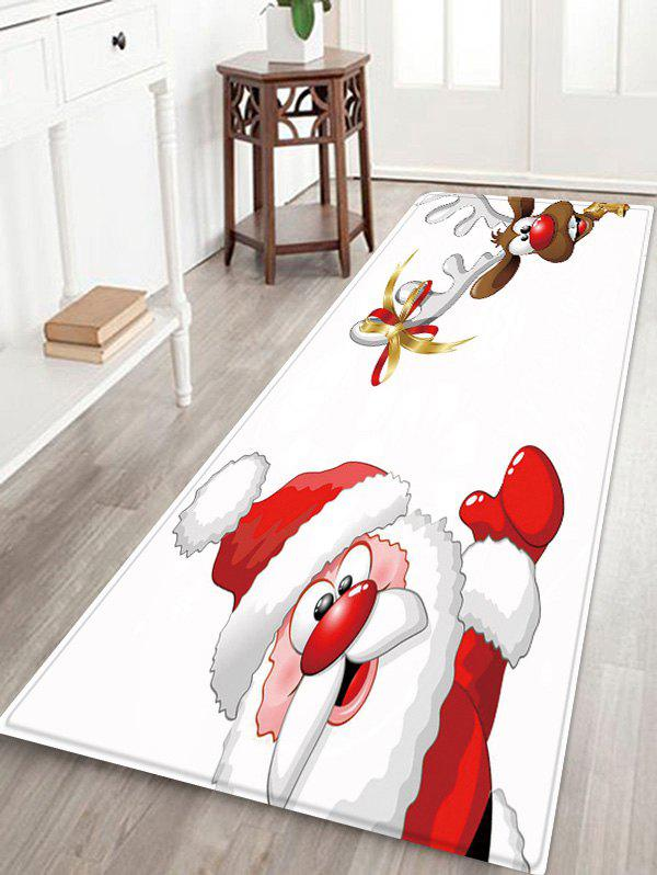 Hot Christmas Santa Elk Pattern Water Absorption Area Rug