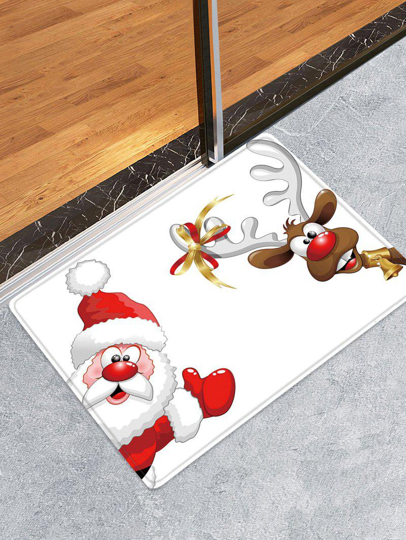 Online Christmas Santa Elk Pattern Water Absorption Area Rug