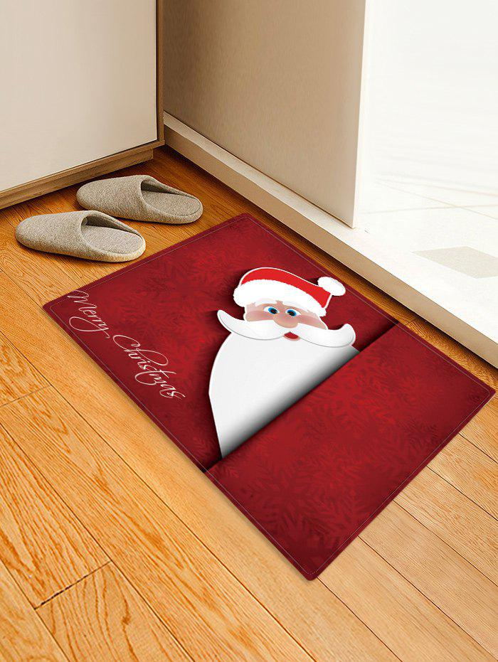 Shops Christmas Santa Pattern Anti-skid Water Absorption Area Rug