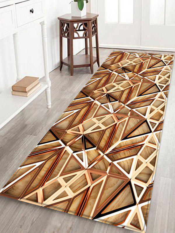 Store 3D Wooden Hollow Out Printed Floor Rug