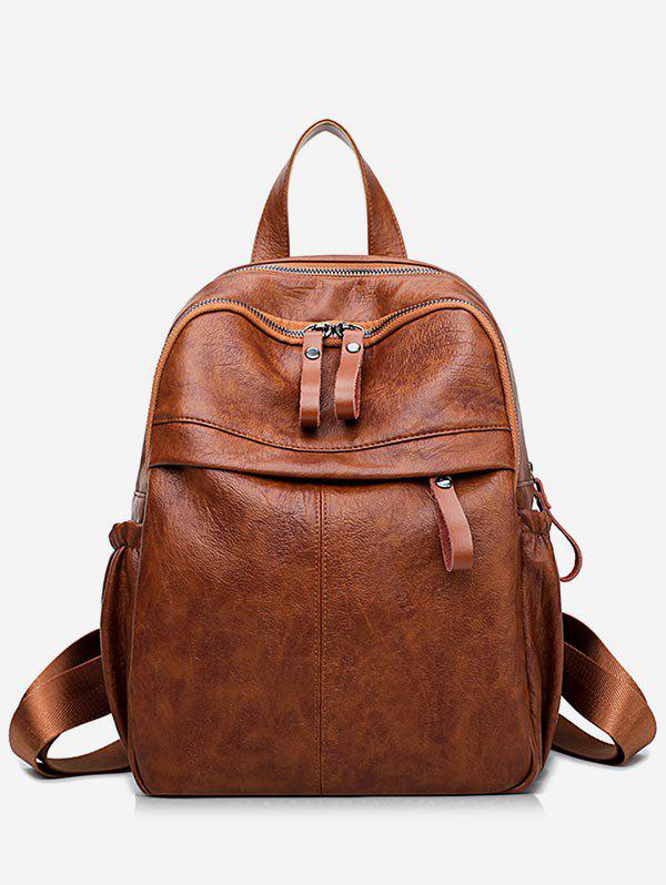 Shops PU Leather Large Capacity School Backpack