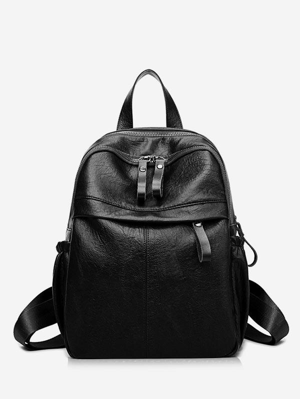 Outfit PU Leather Large Capacity School Backpack