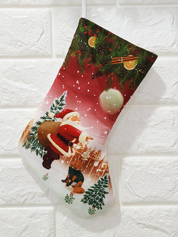 Store Christmas Theme Print Gift Stocking Decoration