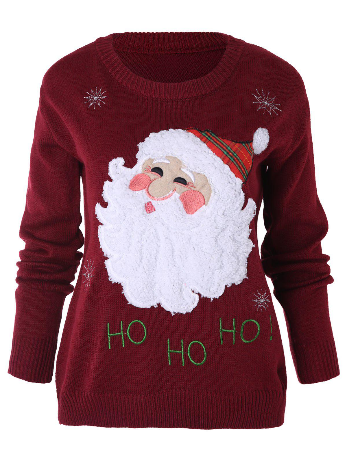 Store Santa Claus Pattern Xmas Sweater
