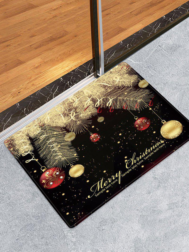 Latest Christmas Hanging Balls Pattern Water Absorption Area Rug