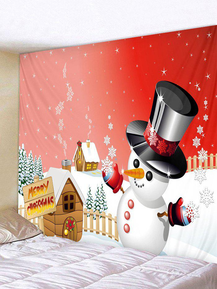 Shop Merry Christmas Snowman Print Tapestry Art Decoration