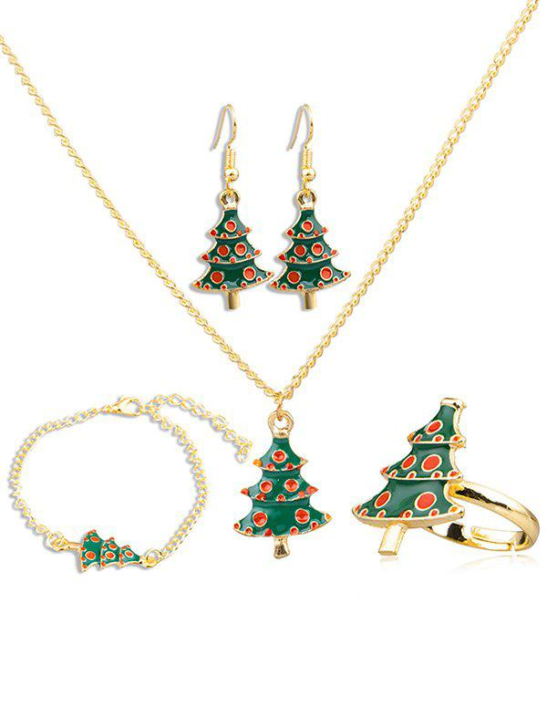 Affordable Stylish Christmas Tree Alloy Jewelry Set