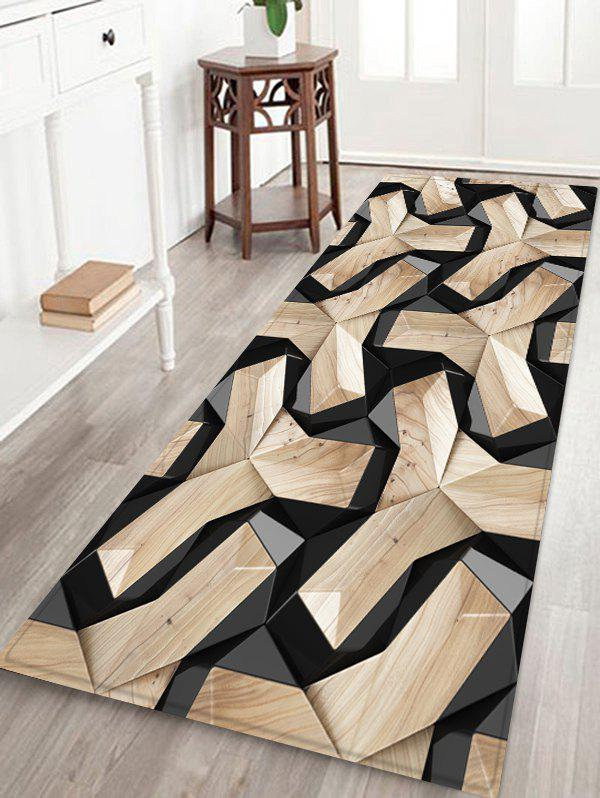 Chic 3D Geometric Pattern Water Absorption Floor Rug