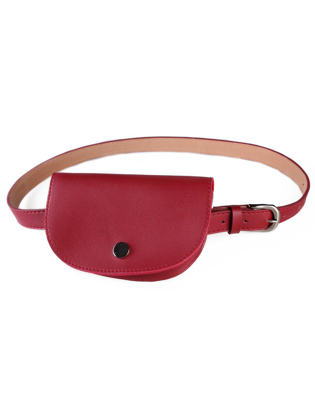 Chic Stylish Solid Color Fanny Pack Belt Bag