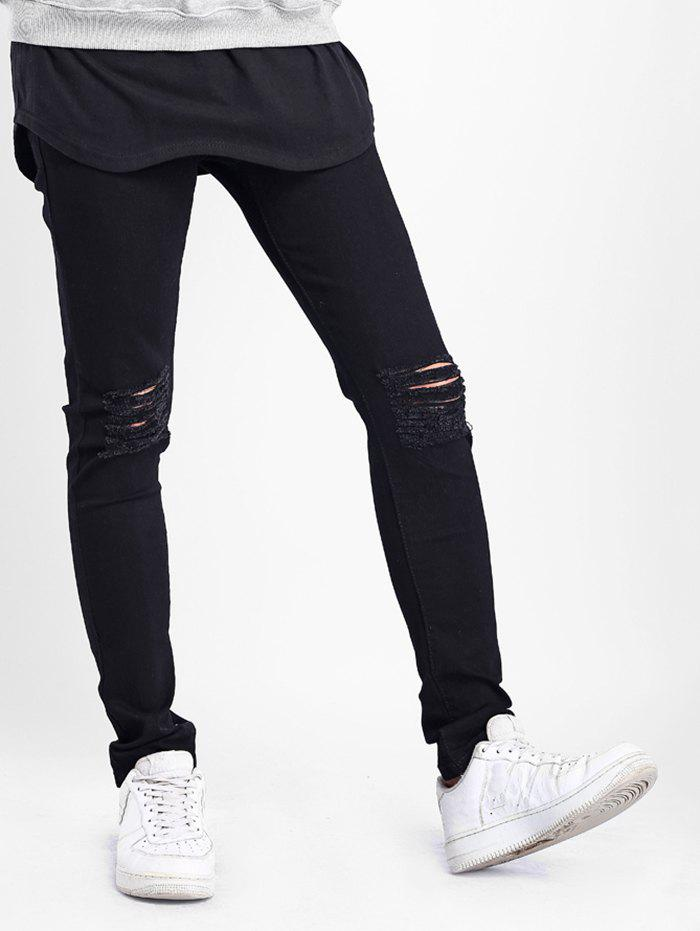 Affordable Zipper Fly Destructed Skinny Jeans