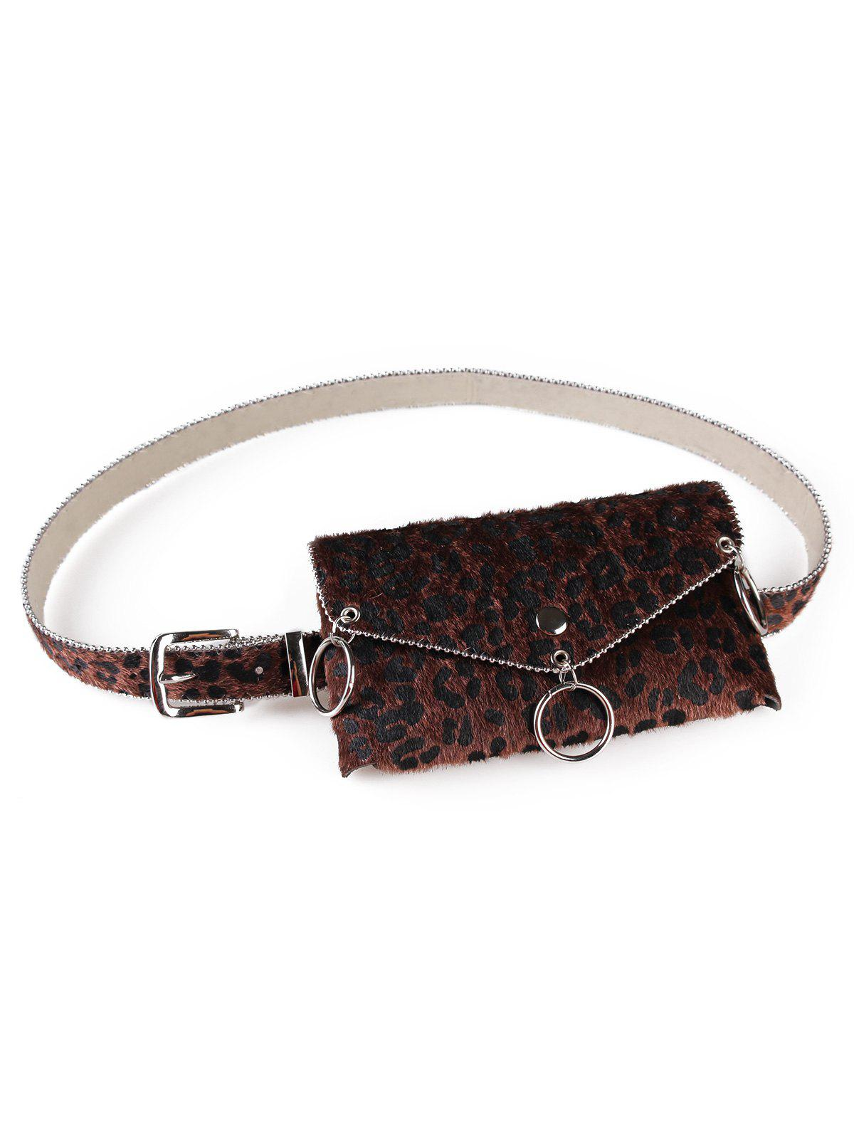 Fashion Leopard Print Fanny Pack Punk Belt Bag