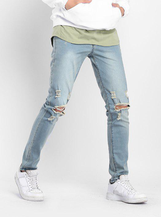 Latest Stretchy Destroyed Hole Skinny Jeans