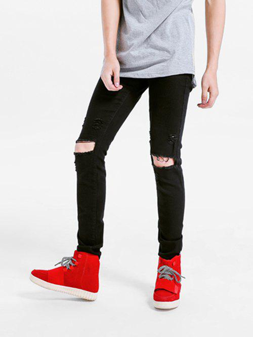 Fashion Stretchy Destroyed Hole Skinny Jeans