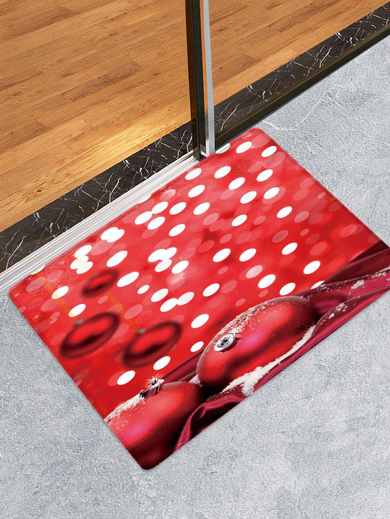Best Christmas Balls Dots Pattern Water Absorption Area Rug