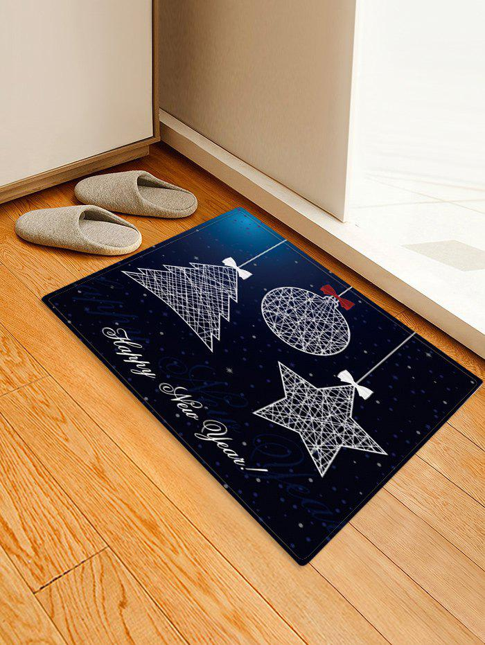 Shops Christmas Tree Star Pattern Anti-skid Water Absorption Area Rug