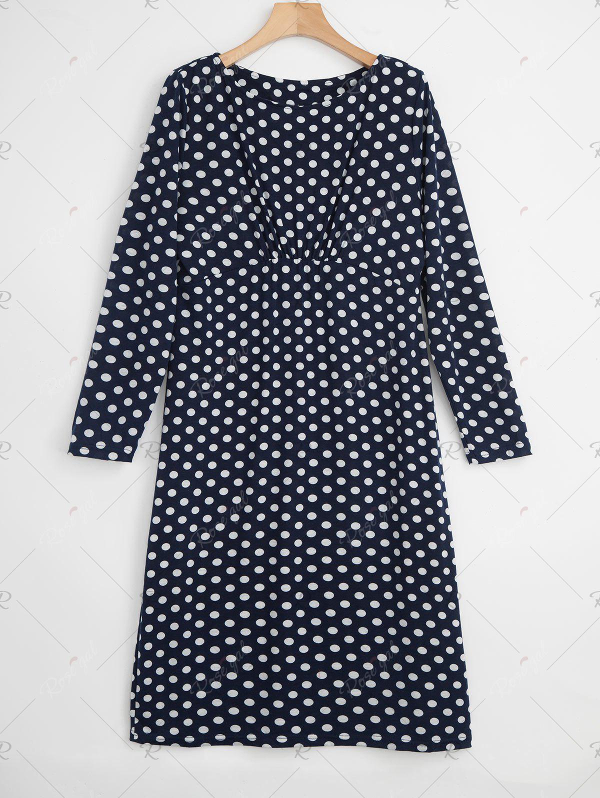 Outfit Plus Size Polka Dot Bodycon Dress