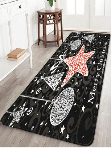 Merry Christmas Pattern Water Absorption Anti-skid Area Rug - MULTI - W24 X L71 INCH