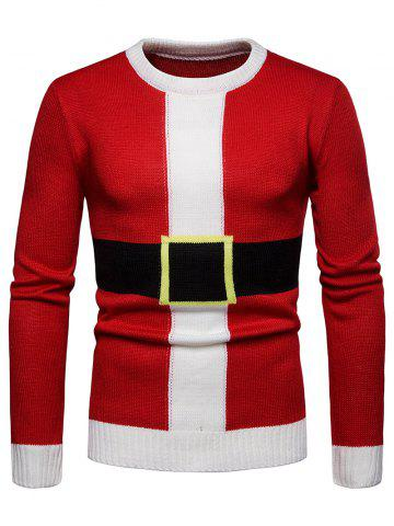 Santa Suit Christmas Pullover Sweater