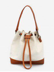 Bucket Color Block Canvas Tote Bag -