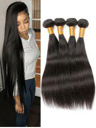 4Pcs Peruvian Virgin Long Straight Human Hair Weaves -