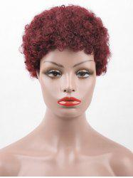 Short Afro Curly Pixie Real Human Hair Wig -
