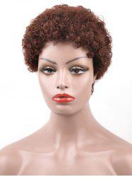 Real Human Hair Short Afro Curly Pixie Wig -