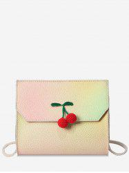 Cherry Embellished Flap Crossbody Bag -