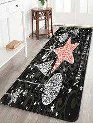 Merry Christmas Pattern Water Absorption Anti-skid Area Rug -