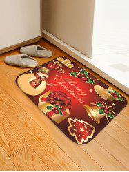 Christmas Props Pattern Anti-skid Water Absorption Area Rug -
