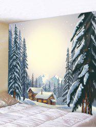 Forest House Print Tapestry Wall Hanging Decor -