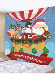 Christmas Greeting Print Tapestry Wall Hanging Decoration -