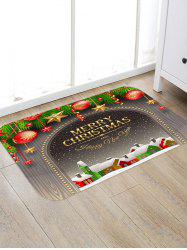 Merry Christmas Town Pattern Anti-skid Water Absorption Area Rug -