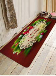 Merry Christmas Balls Pattern Anti-skid Water Absorption Area Rug -
