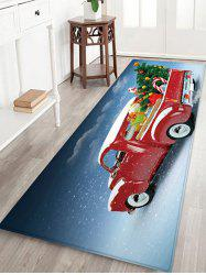 Christmas Tree Car Pattern Water Absorption Floor Rug -