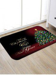 Christmas Tree Greeting Pattern Anti-skid Water Absorption Area Rug -