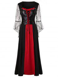 Robe grande taille Halloween à lacets -