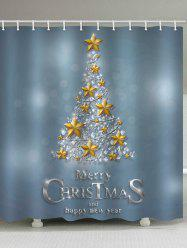 Christmas Letter Pattern Waterproof Bathroom Shower Curtain -