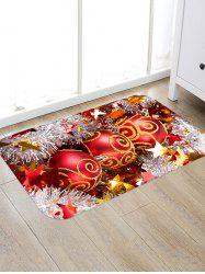 Christmas Balls Stars Pattern Anti-skid Water Absorption Area Rug -