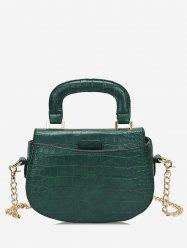 Top Handle Mini Chain Crossbody Bag -