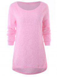 High Low Fuzzy Sweater -