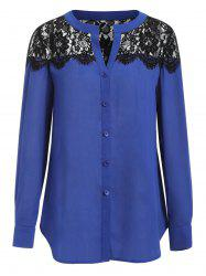 Lace Panel Full Sleeve Shirt -
