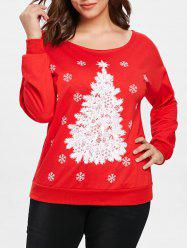 Sweat-shirt Flocon de Neige de Noël de Grande Taille -