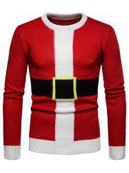 Santa Suit Christmas Pullover Sweater -