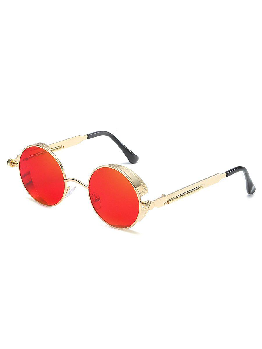 Latest Anti Fatigue Metal Frame Flat Lens Round Sunglasses
