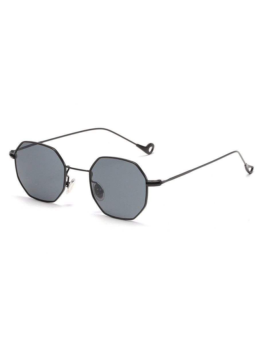 Vintage Irregular Metal Frame Sun Shades Sunglasses
