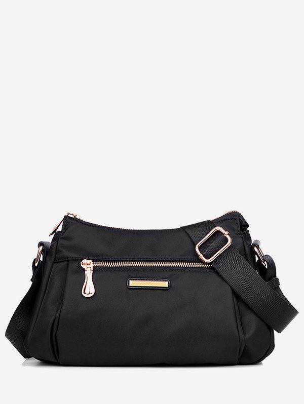 Hot Zip Pockets Nylon Crossbody Bag