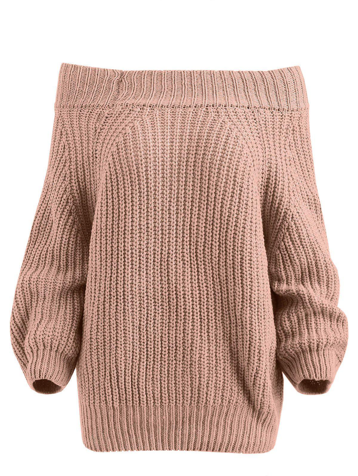Shops Off The Shoulder Plain Sweater