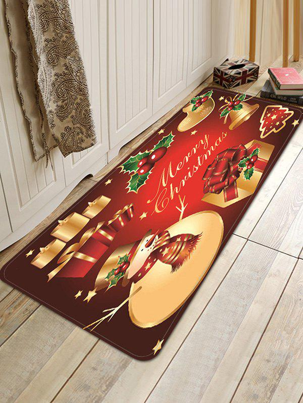 Online Christmas Props Pattern Anti-skid Water Absorption Area Rug